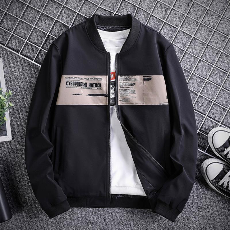 Spring Brand 2020 Новая куртка Мужчины Повседневная Сыпучие Лоскутная Ветровка бейсбол куртка Мужчины моды хип-хоп пальто Streetwear Одежда
