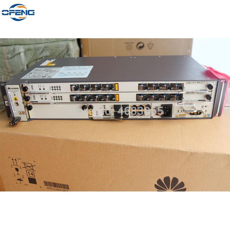 광섬유 장비 화웨이 OLT MA5608T 1 * MCUD 1G 제어 보드 + 1 * MPWC DC 전원 1 * 2 * GPBD B + 서비스