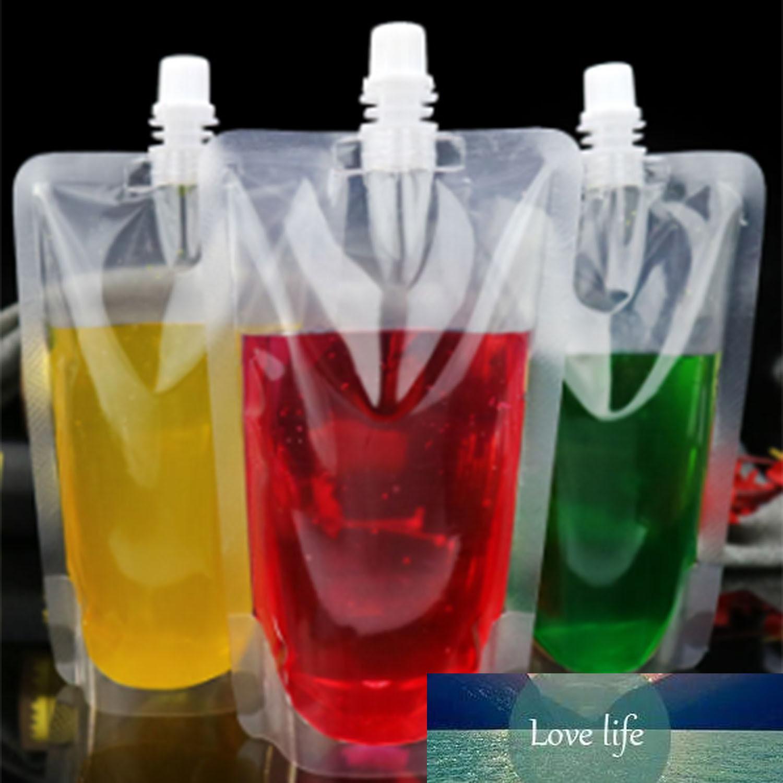100 pièces en plastique Stand-Up Drink Sac Spout poche Fo lait café Buse Sac boissons Bouche Sac
