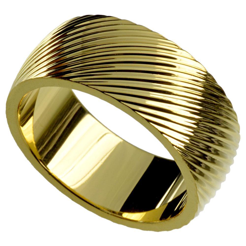 Solide Herren 18k Gold Gefüllte Hochzeits-Verlobungsring R246MA SZ8-15