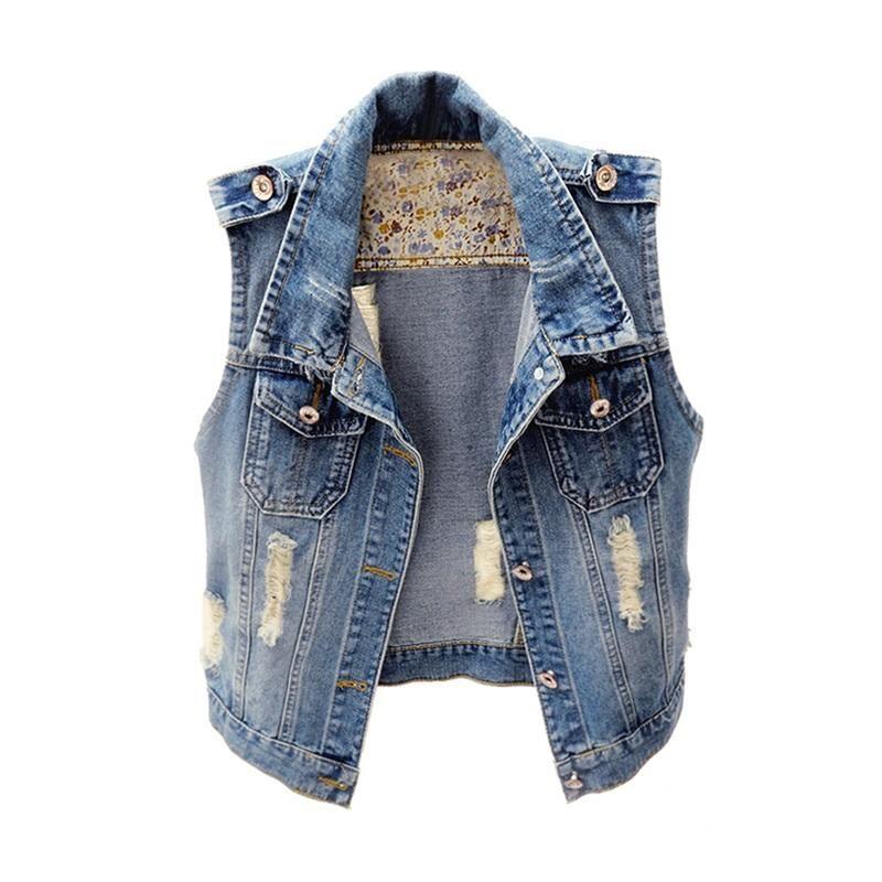 Korea Slim Epaulet Waistcost Hole Short New Fashion Leisure Vest Turn-down Collar Tops Gilet Plus Size S-XXXL Outwear VestMJ0021