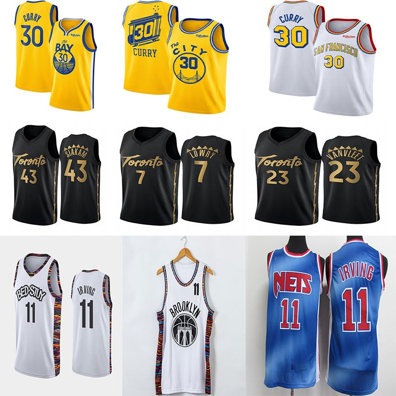 Ncaa Stephen Curry 30 Jersey Kevin Durant 7 11 Irving Pascal 43 Siakam Fred 23 VanVleet Kyle Lowry 7 Uomini College Basketball Maglie