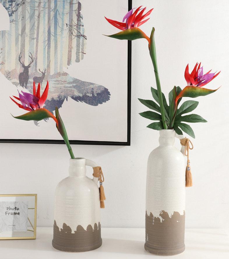 Künstliche Blumen 80 cm Langeweile Note Gefälschte Kunststoff Tropische Vogel Vogel von Paradies FlowerArtificial Seide Lange Blumen Home Decorat