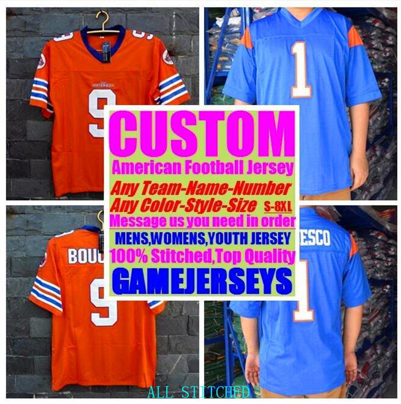 Custom American Football Jerseys pour Mens Femmes Jeunes enfants Kids Baseball Glace Hockey Basketball Personnalisé 2021 Jersey Soccer Boys 4XL 5XL 6XL