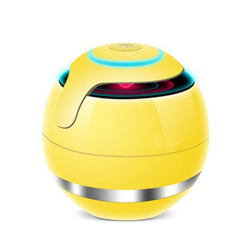 Magic Bluetooth-Farbe LED-Musik-Lautsprecher mit Subwoofer Mini-Runde Hi-Fi-tragbare Lautsprecher unterstützen TF FM AUX für das Telefon