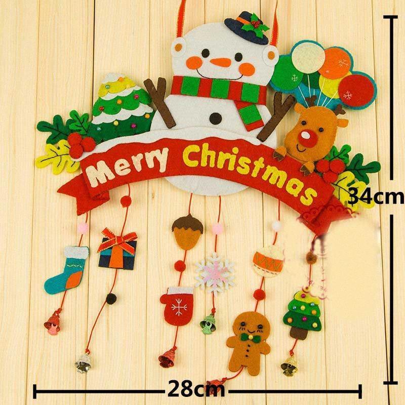 Fai da te ciondolo Vigilia di Natale a sospensione Sleepless Natale Materiale pacchetto creativo delle decorazioni UYhL #
