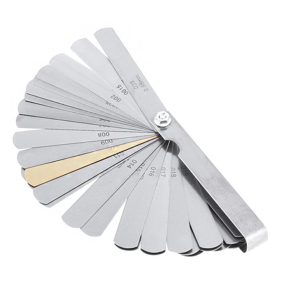 32 Bıçaklar Kombinasyon Ölçüm Aracı Feeler Ölçer Metrik / İmparatorluk Tutarlı Dolgu 0.04-0.8 SQCAAN HOMES2007