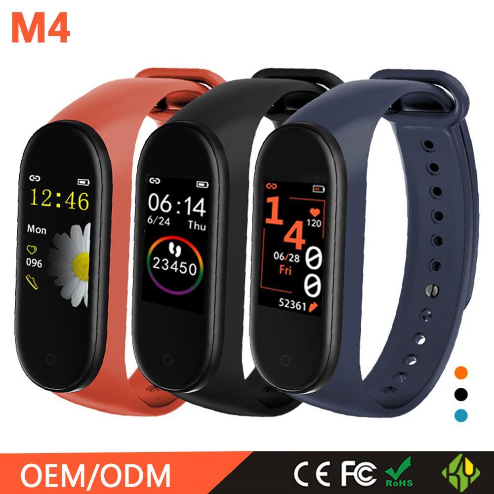 Per Pressione Smartband Fitness Tracker Bracciale Sangue cardiofrequenzimetro fpr impermeabile intelligente Banda M4 Wristband