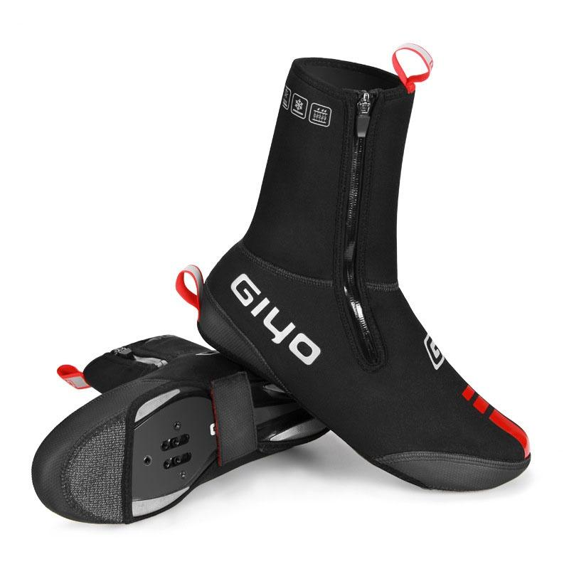 Couvre-chaussures à cheval Couvre-chaussures de serrure de vélo Couvre-chaussures coupe-vent et imperméable à cheval d'extérieur Couvertures de chaussures épaisses pour véhicules routiers de montagne