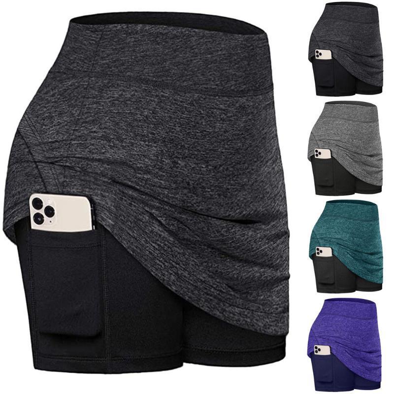 Donne Summer Sports Short Mini Gonne Skirts attive Gonna con tasca Gonna a secco tascabile Tennis Golf Workout Sport Tennis