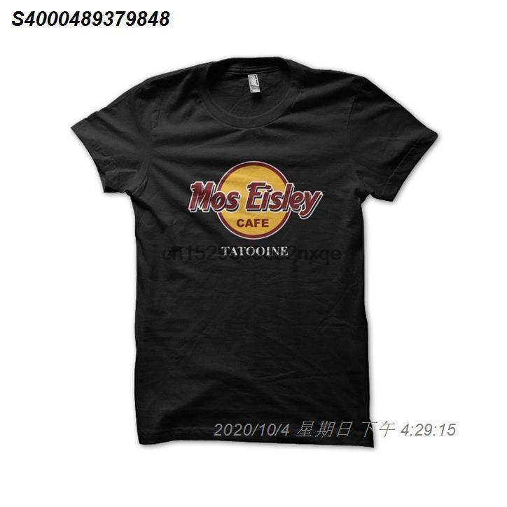 Мужская майка Мос Эйли черный кофе Татуин Tshirts Женщины T-Shirt 14510