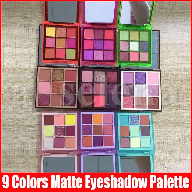 Beauty Eye Makeup Shadow 9 Colori Nude Eyeshadow opaco Shimmer Glieitter Eye Shadows Pressato Palette 9 Stili