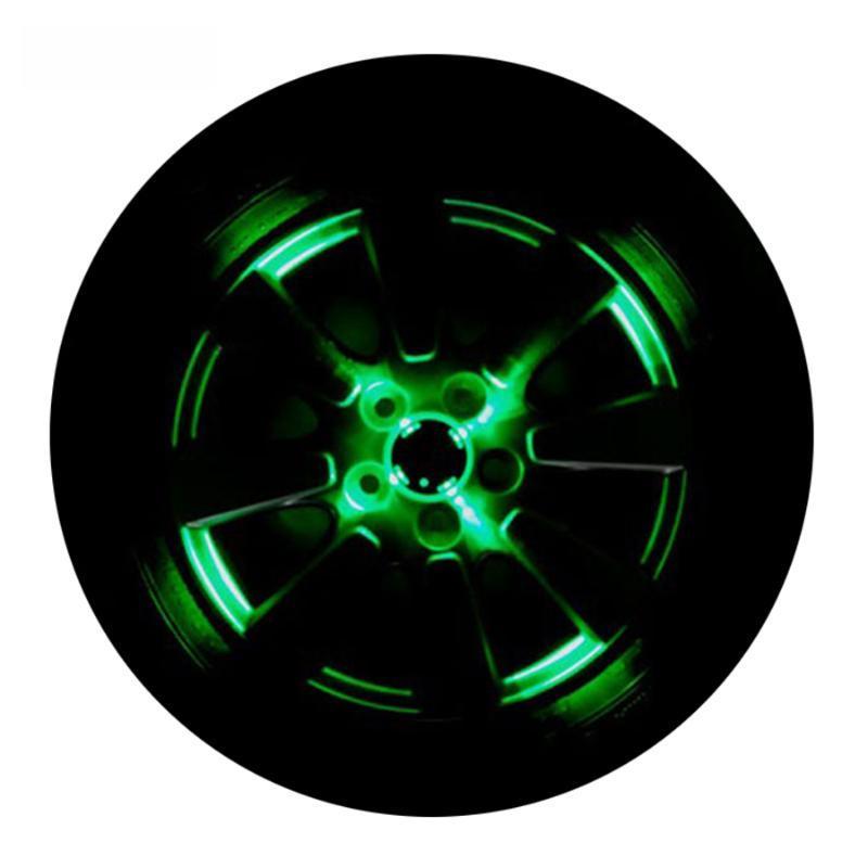 2/4 pièces voiture solaire flash Roues Lumière styling voiture extérieur de cool lumières colorées auto Accessoires universels
