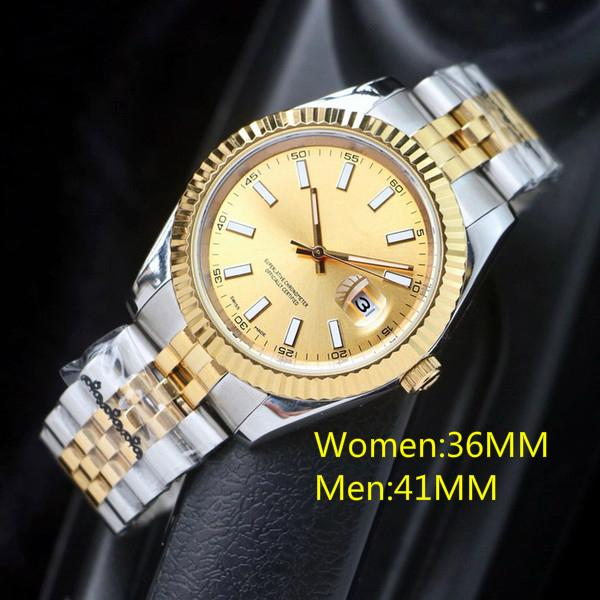 En Yüksek Kalite 36mm Erkek Saatler Otomatik Hareketi Paslanmaz Çelik Saatler Kadınlar 2813 Mekanik Saatler Su Geçirmez Aydınlık Saatı