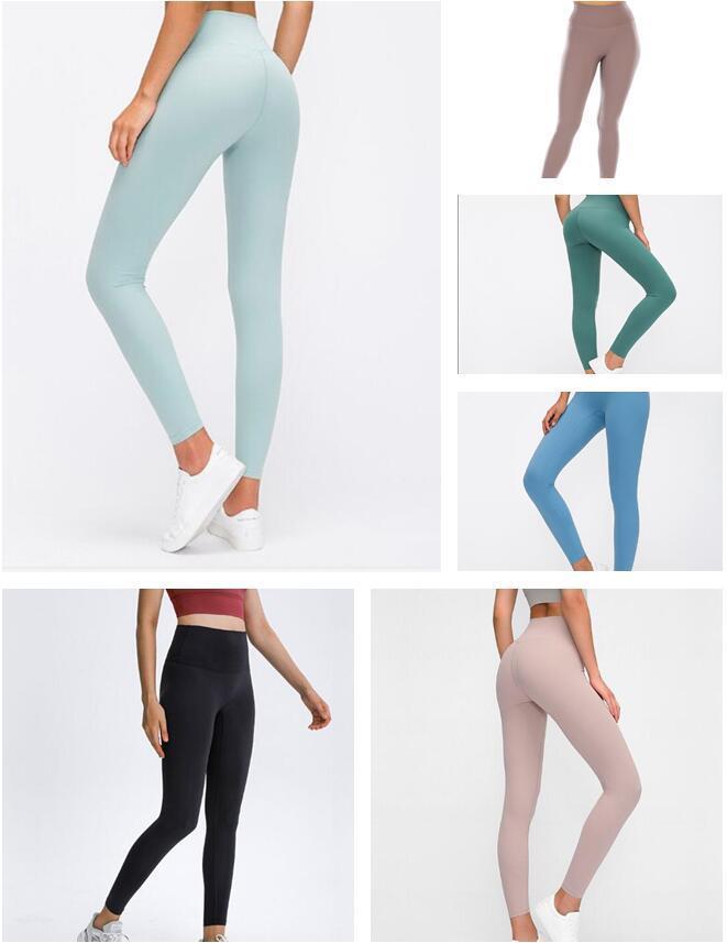 2021 Styliste femme Lu Haute Vfu Pantalon de Yoga Leggings Yogaworld Femmes Entraînement Fitness Set Porter Fitness élastique Lady Collant plein Solide # 10