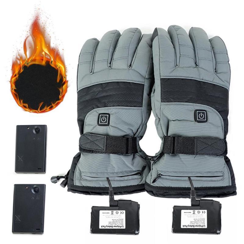 Лыжные перчатки 1 пара зимний мотоцикл езда электрический нагрев теплый USB высокая тепловая термоэтапная термореализация # 1