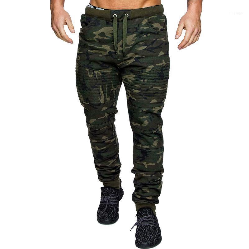 Pantaloni da uomo Plus Size Uomo Domestici da uomo Azzurro Sudore Casual Camo Lavori Outdoor Zip Cargo Cool1