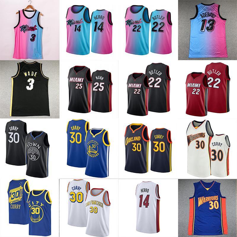NCAA STEPHEN 30 Curry Jersey Jersey Jimmy 22 Butler Dwyane 3 Wade Tyler 14 Herro Kendrick 25 Nunn Men Basketball майки