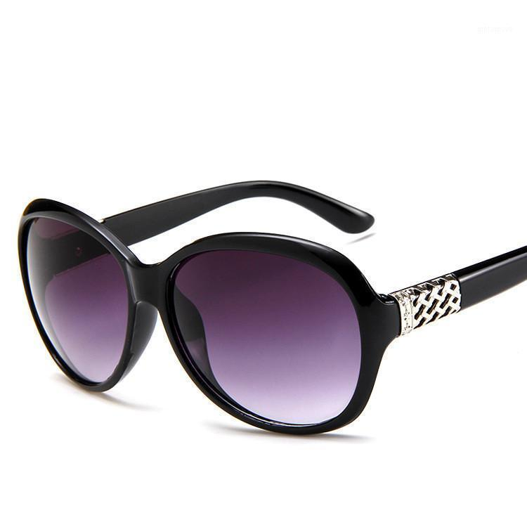 Vintage Oversized Women's Glasses Verano 2020 Diseñadores Luxury Oval Sunglasses para Damas Negro UV400 Feminino1