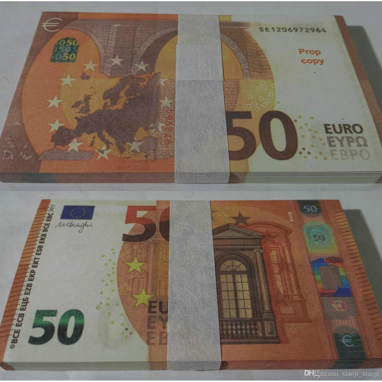 BankNote Festival Collections Faux Party Pop Giocattolo Best 50 copia denaro denaro Billet Billet Bambini Stage Presents Euro Trick Holiday Prop Curre Gliv.