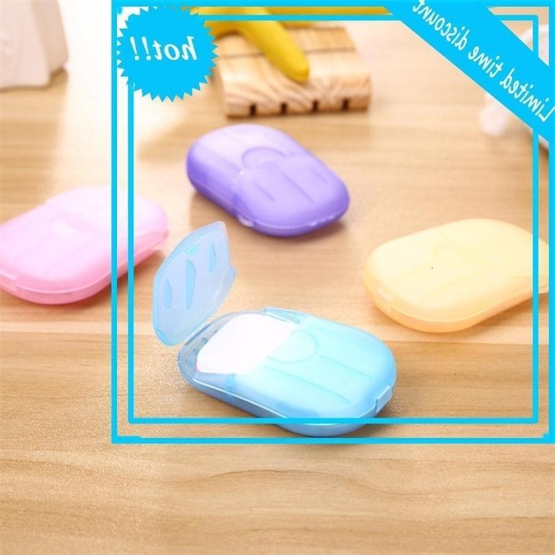 Индивидуальные портативные одноразовые с коробкой Mini Salt Travel Travel Wate-стиральная ванна Pape Paper Mapy Jabon de Papel