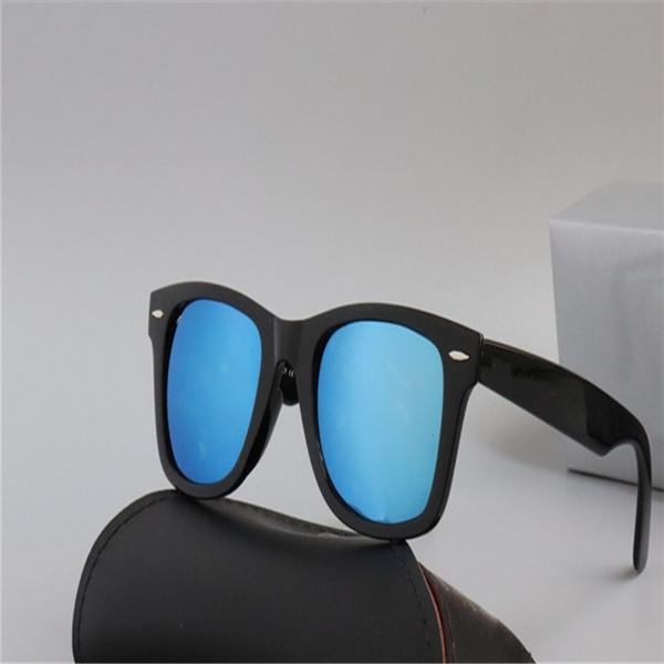 Sıcak Satış Güneş Gözlüğü Vintage Pilot Güneş Gözlükleri UV400 Erkekler Kadınlar Ayna 2140 54mm Cam Lensler Ile Case TRSHSRZHS