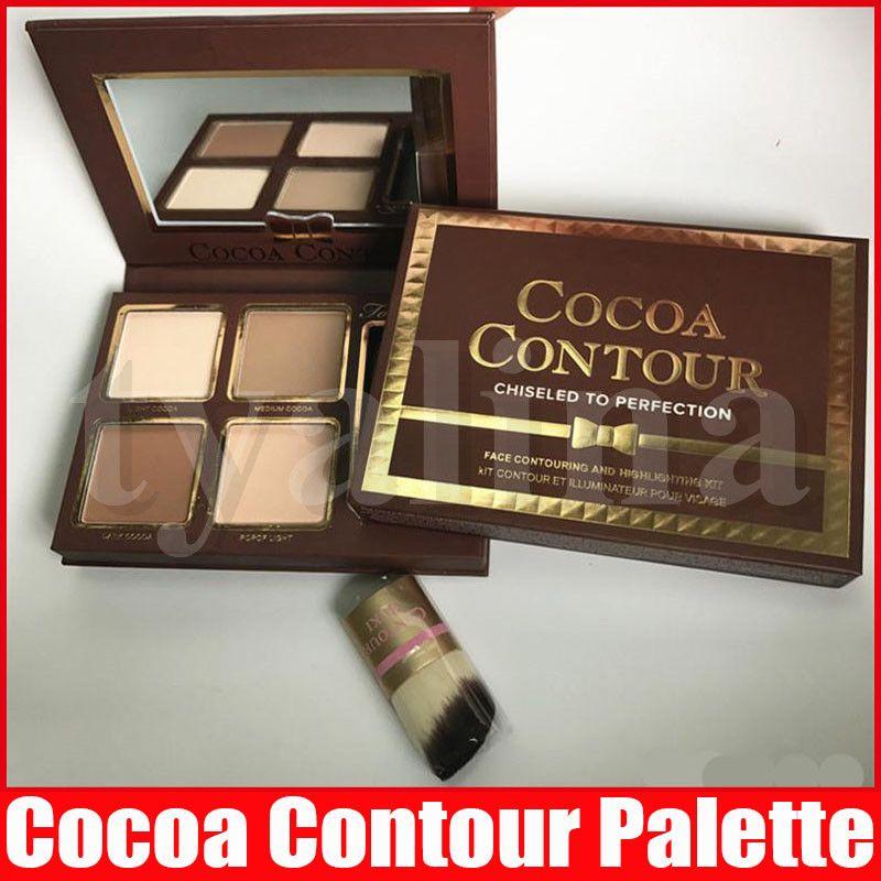 КАКАО Контур Kit Highlighters Palette Nude цвет Косметика для лица Косметика Корректор Шоколад Eyeshadow с Контурная Буки Brush