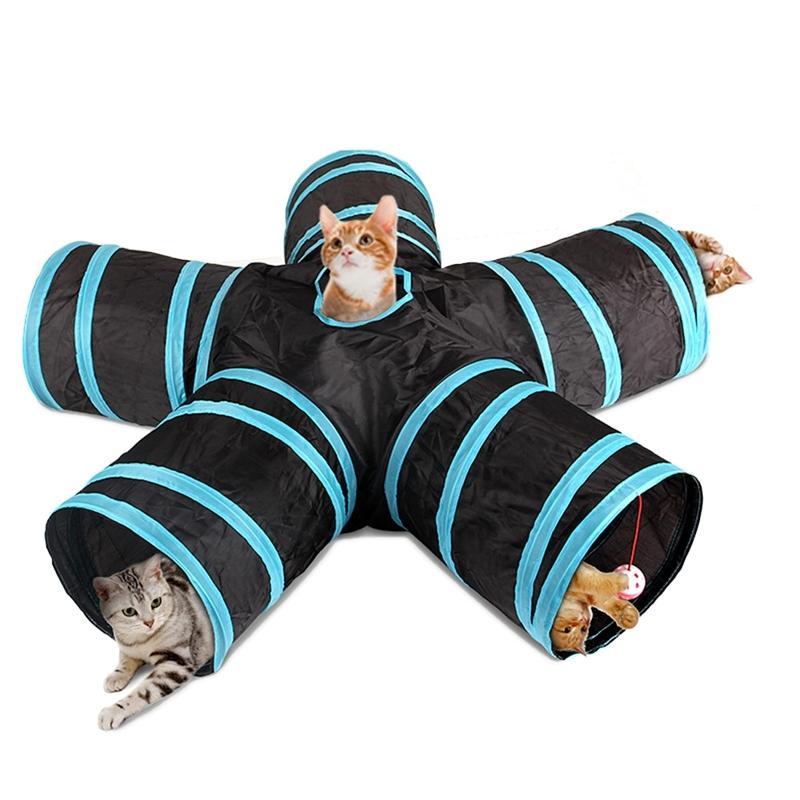 القطة النفق طوي 3/4/5 طريقة لعب الحيوانات الأليفة تلعب النفق قابل للطي نفق أنبوب لعبة التدريب للقطط الكلاب الأرانب إمدادات الحيوانات الأليفة 201112