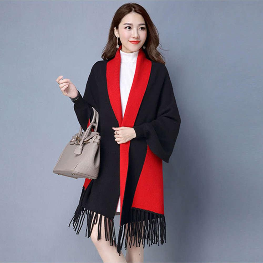 New Cashmere Shawl with sleeves for women in autumn and winter