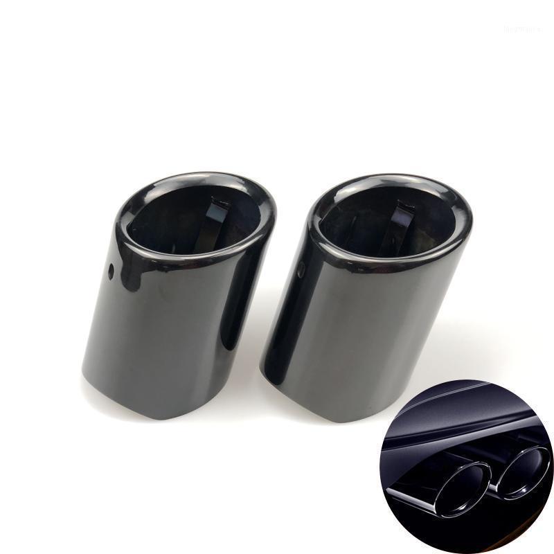 Auto-Styling Auto-Auspuff-Rohre Twin-Schwanz-Heck-Rohrauto-Abgassystem Abdeckungsfall für 730i 730LI E65 E66 E671