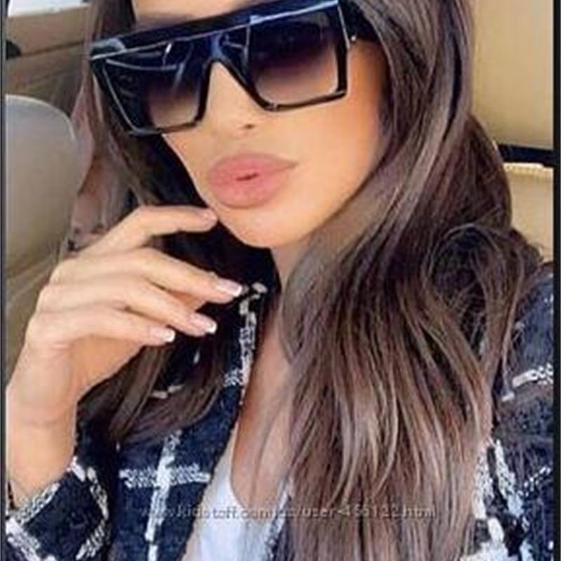 eoome Негабаритные квадратной формы Большие Aceta Женщины Солнцезащитные очки Driving желтые линзы Vintage óculos Feminino Lentes De Sol