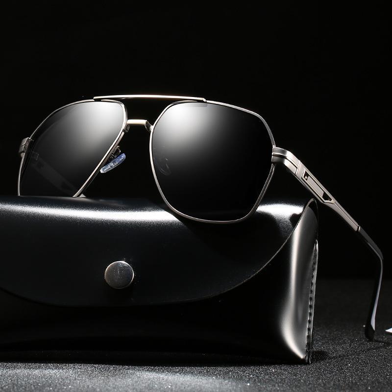 Металлические поляризованные крупные рамки многоугольные мужские езда красочные спортивные солнцезащитные очки 902