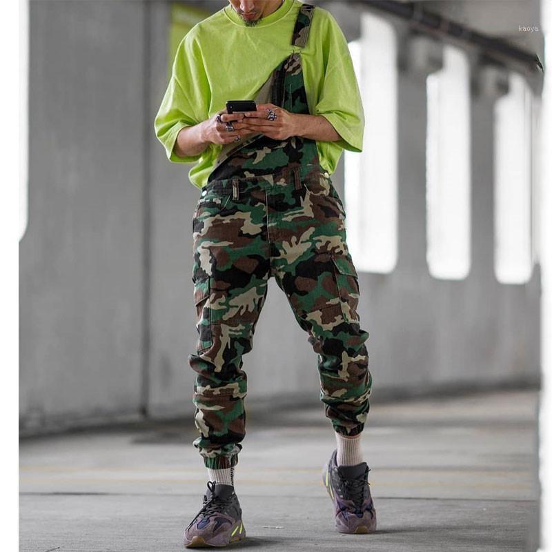 Jeans Men 2019 New Camouflage Strap trousers Men's Overalls Large size Casual pants More size S-XXL XXXL1