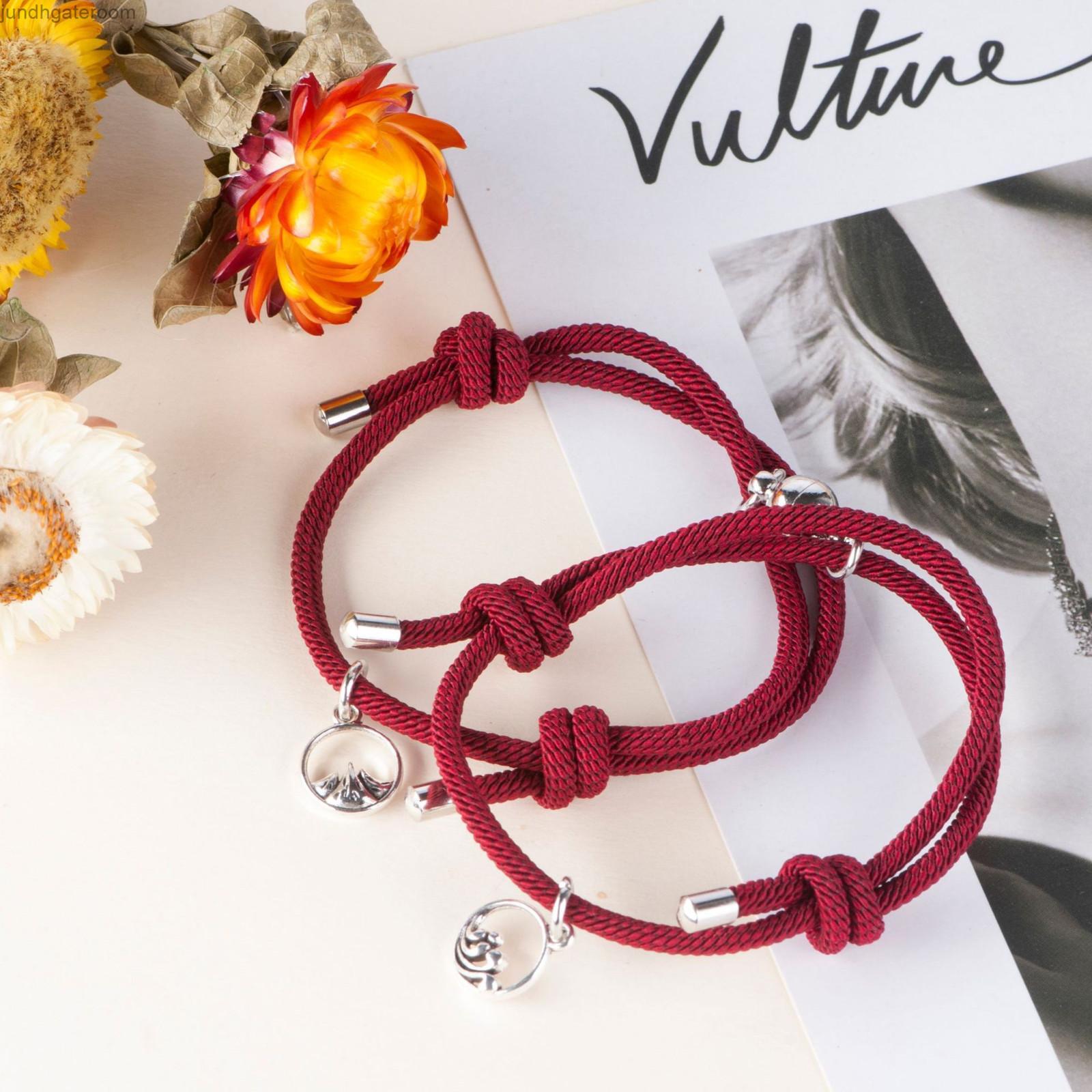 FactoryPyuhStudent 2021 Новая простая магнитная аттракцион вязание ручной веревки Net Red Bracele
