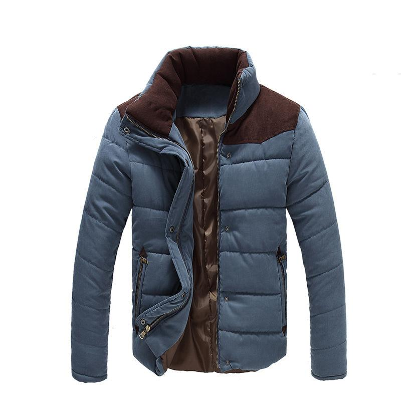 New Winter Men's Fashion Solid Mens Jackets&coats Thicker Warm Parkas Men Outwear Casual Down Jacket Plus Size M~4xl