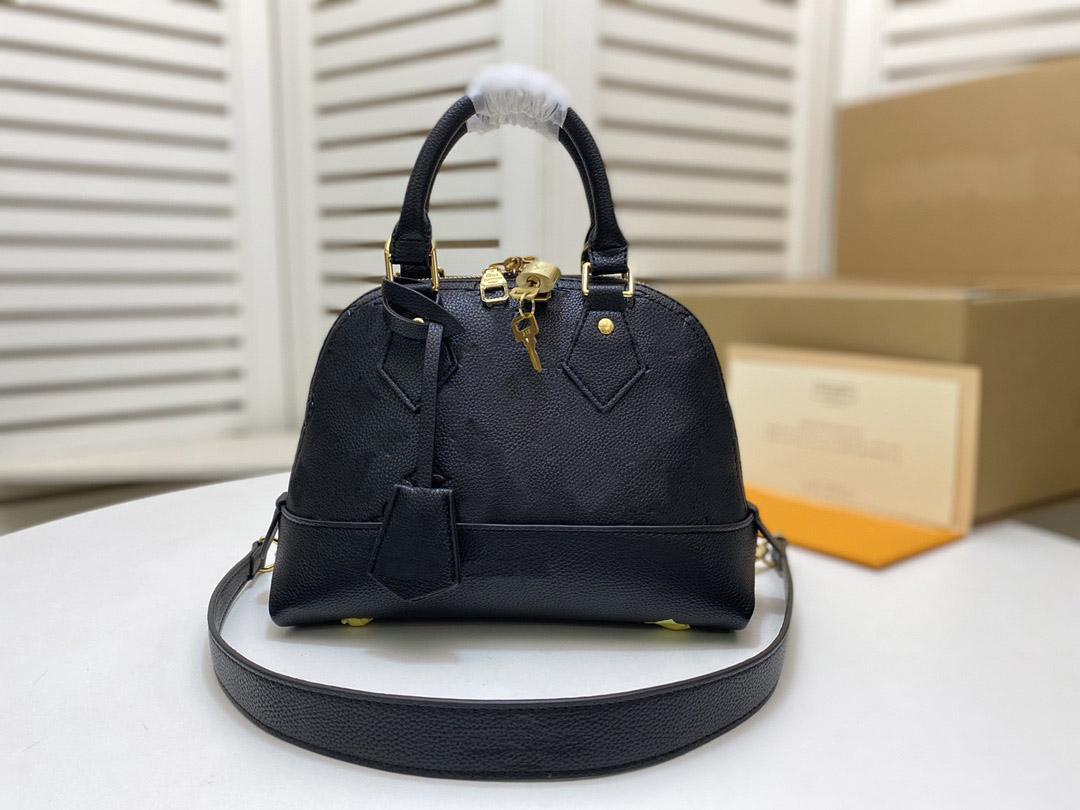 M44829 Neo Alma BB de Couro Embossed Moda Das Mulheres Business Bolsa Bolsa Cross Body Bag Ombro Punho Bolsa de Pó