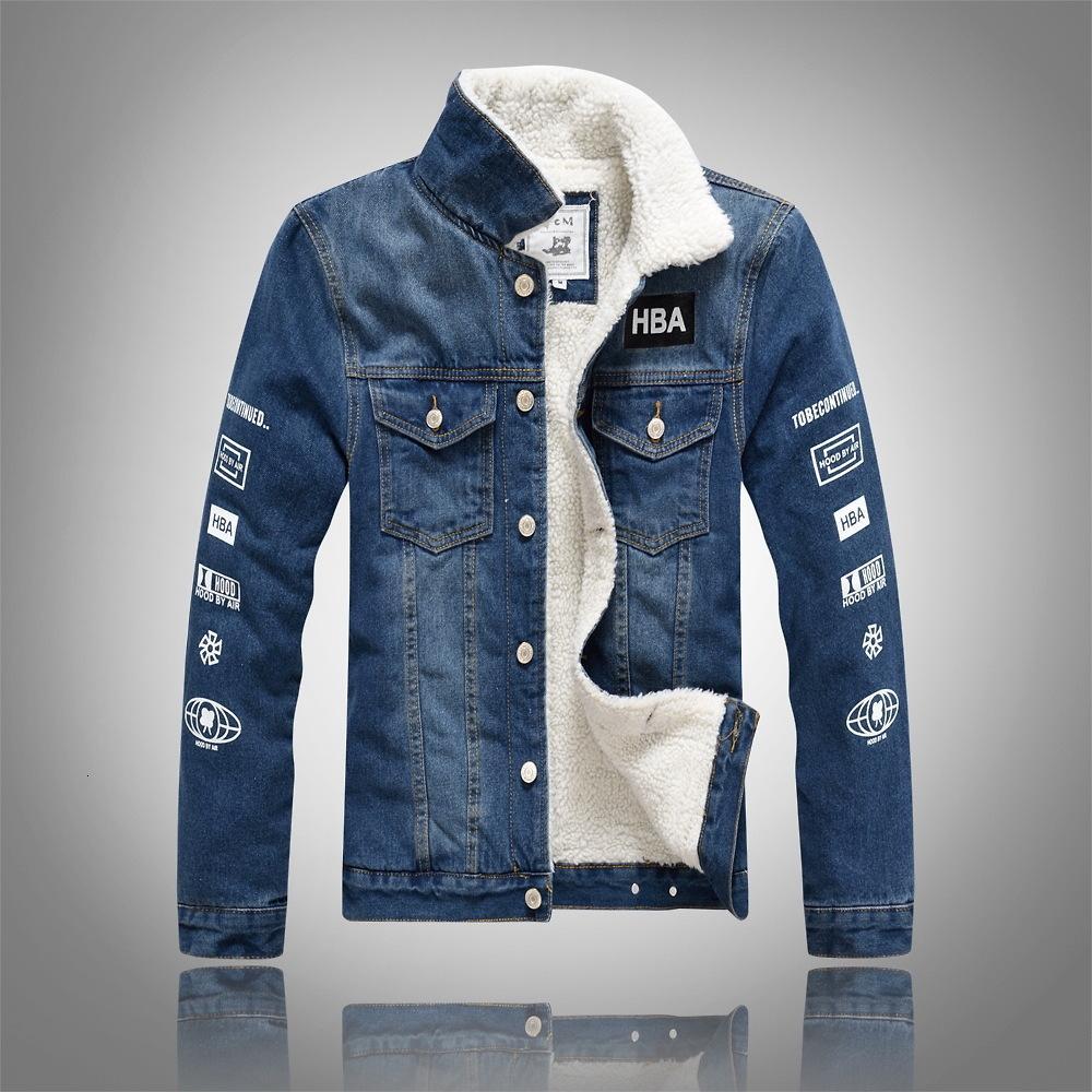 2020 neue Herren Cato männlich fett warm durchgeführte Fleece Marke Jassen Hohe Qualität Denim Jacke Slender Jeans Mode Top JAS S-5XL