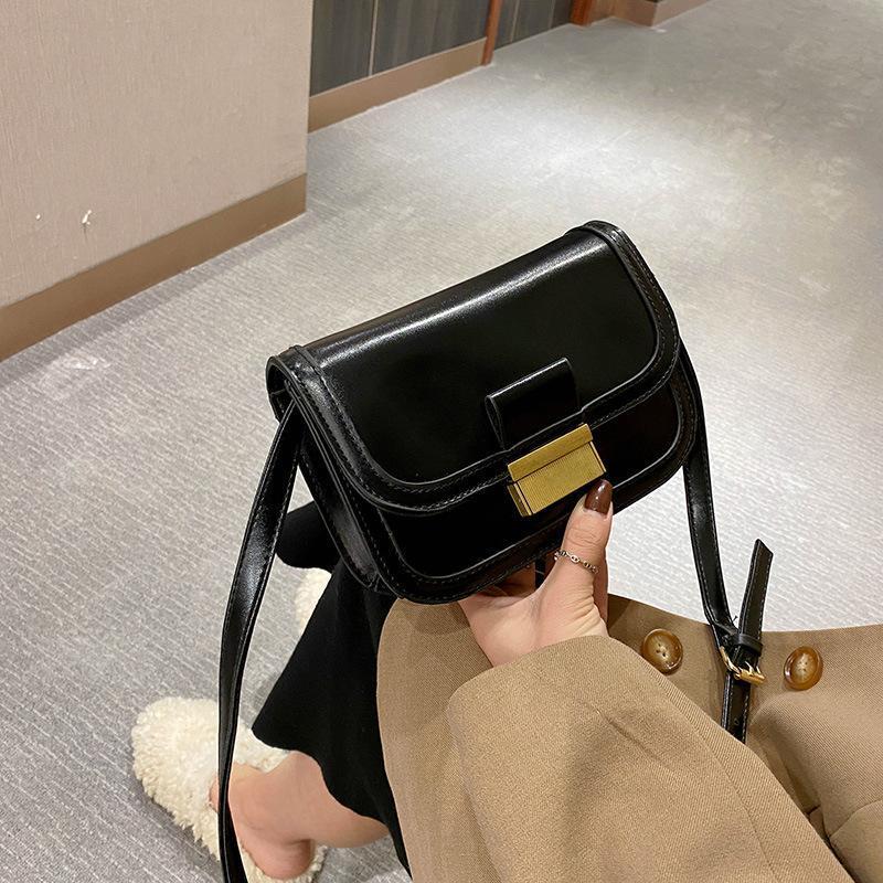 Mensajero Mensajero Pequeño bolso cuadrado Cadena Color puro Sencillez Pequeño bolso de cuero suave Mujeres 2021 Nuevo bolso y bolso