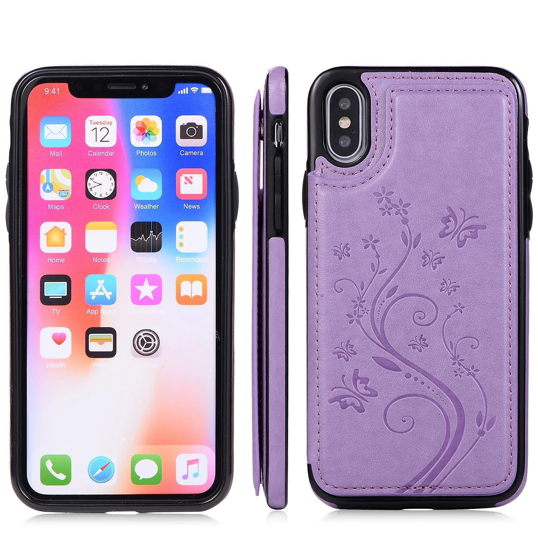 El estilista de teléfono para el iPhone 12/11 / 11Pro / Max 11Pro / XR XSMAX X / XS 7P / 8P7 / 8 / casaul Los diseñadores de la mariposa IPhone Realmente cubierta de la caja 7-Color