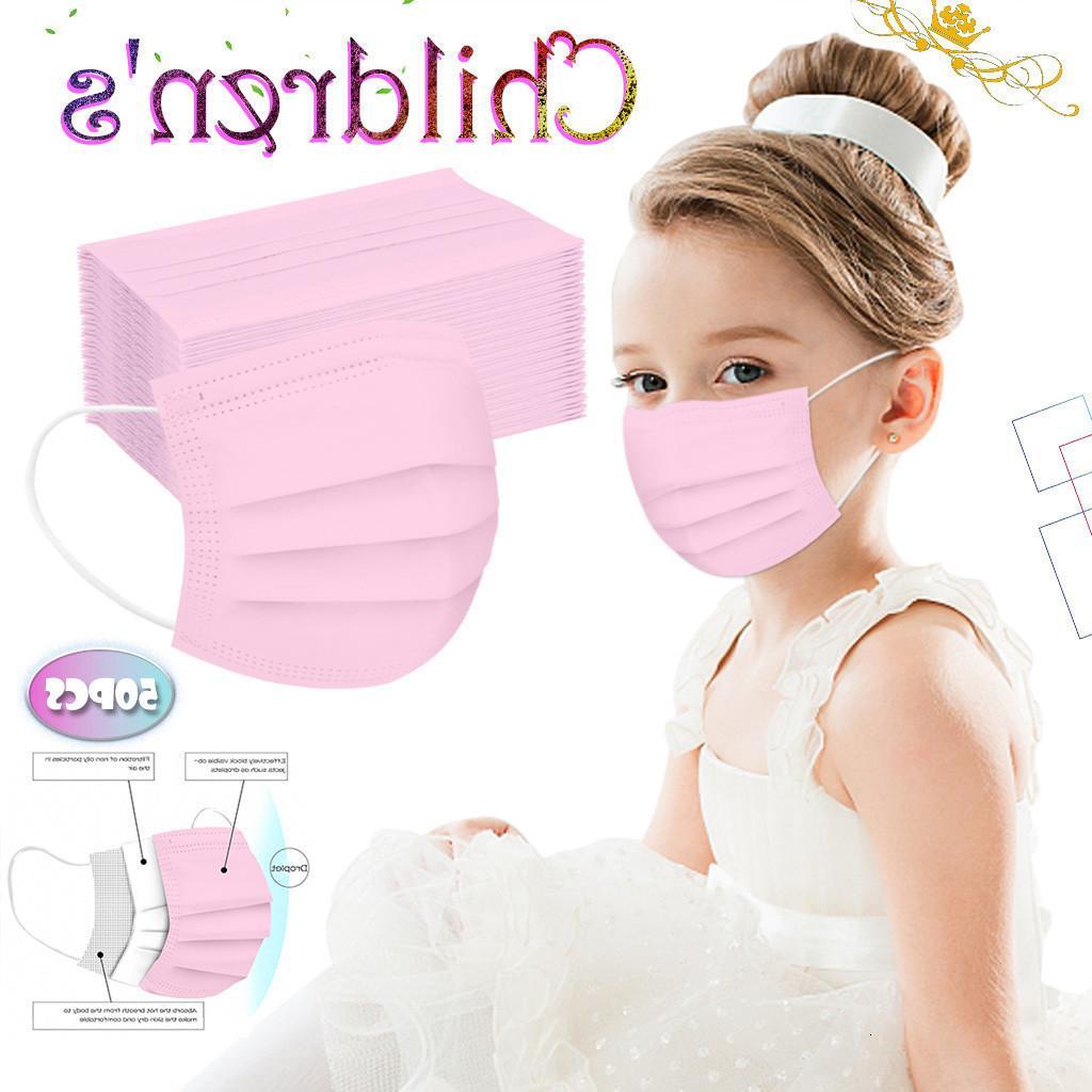 desechable de color del color sólido de la máscara desechable estudiantes con tres capas de máscara protectora tela fundida por soplado engrosado los niños y