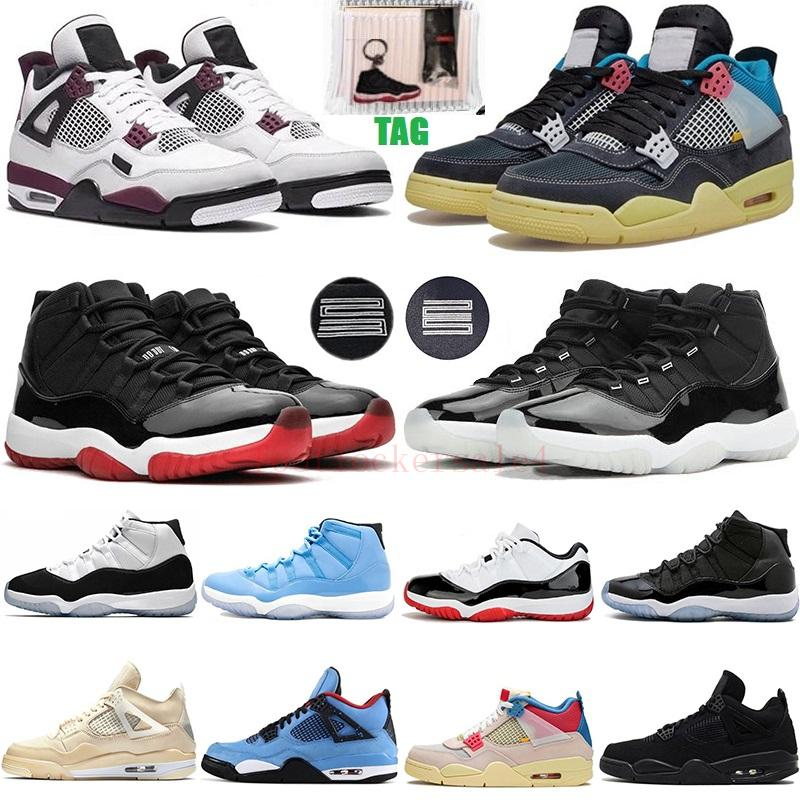 White Bred Cactus Jack Paris Sail 4 4s What The Noir Basketball Shoes 11 11s Concord 45 25th Anniversary Pantone Jumpman Men Sport Sneakers