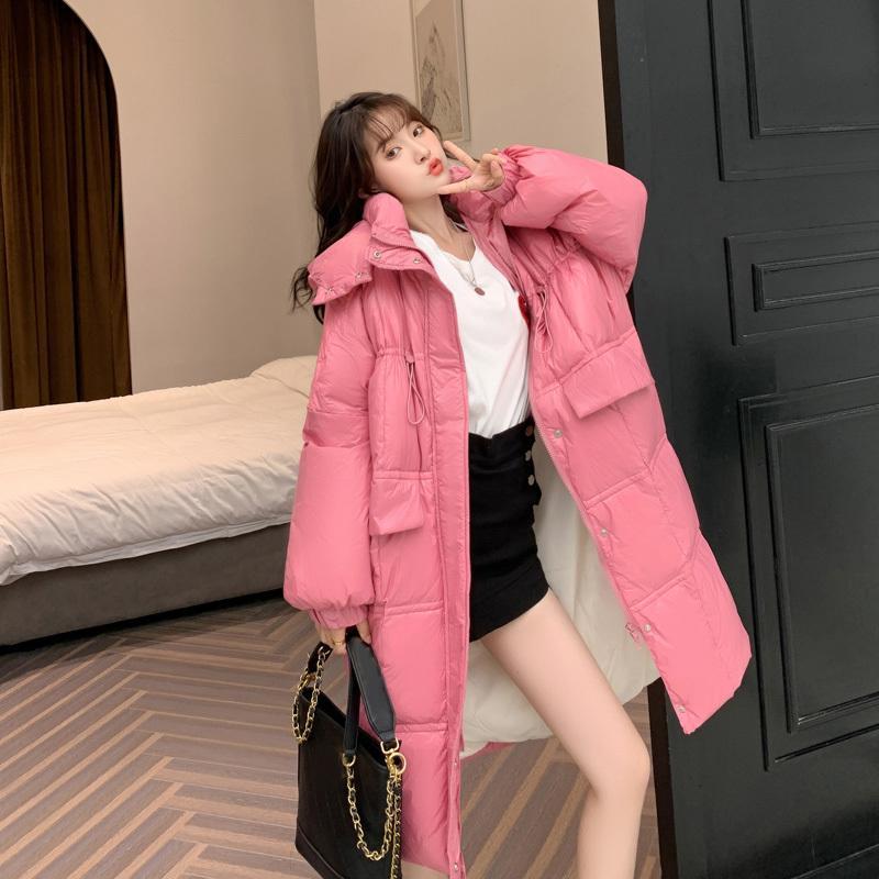 2020 Yeni kadın Uzun Parka Kış Katı Ceketler Kapüşonlu Artı Boyutu Kalın Sıcak Ceket Kadın 90% Beyaz Ördek Aşağı Ceket Outwea