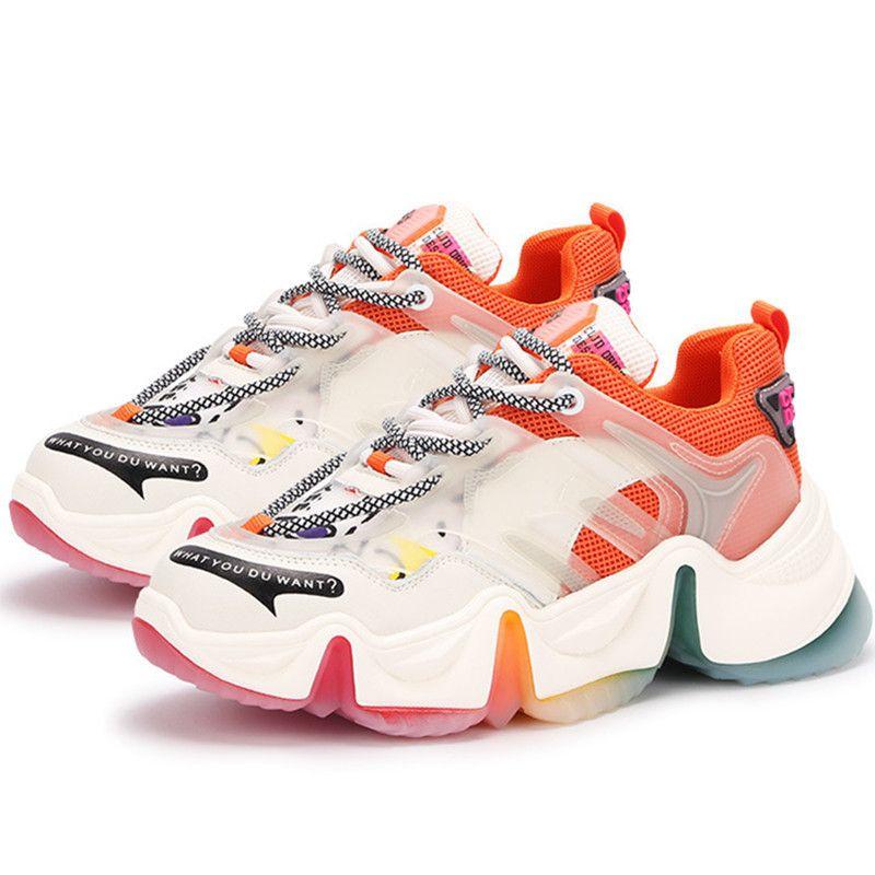 RASMEUP custom Genuine Leather Women's Sneakes 2020 Summer Casuals Women Platforn Shoes Ladies Mesh Comfortable Chunky Footwear LJ201130