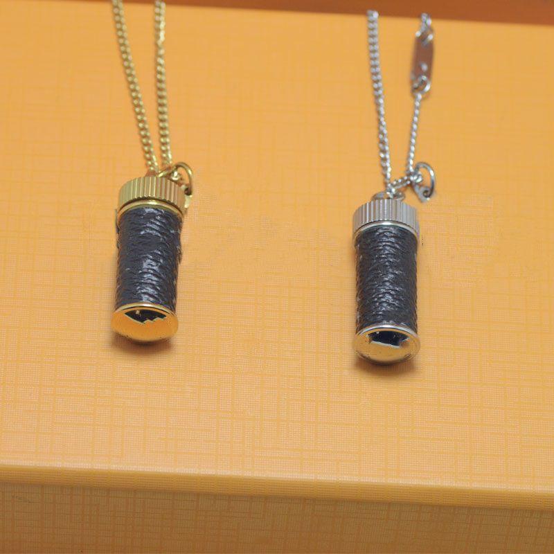 Best Selling Parfüm Flasche Halskette Top Qualität Paar Halskette 2 Farbe Goldene lange Halskette Modeschmuck Versorgung Großhandel
