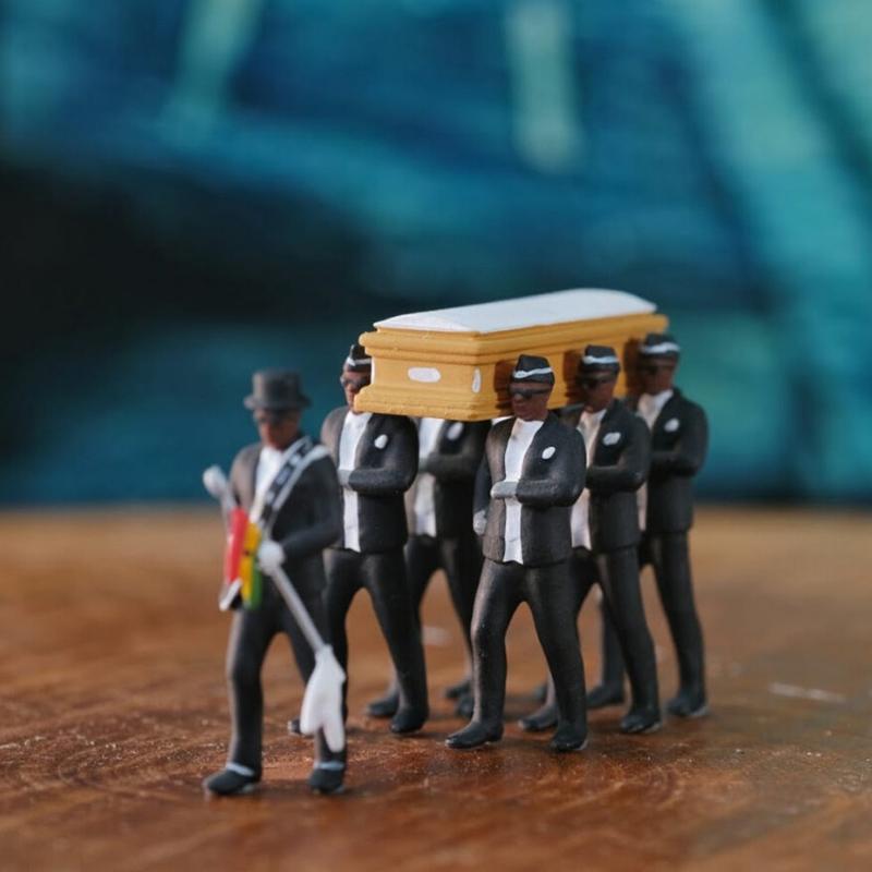 Modo caldo Coffin Ballerino Figura Dancing figura giocattolo Uomo Nero di trasporto Il modello Toys azione PVC Figure Collection Giocattoli