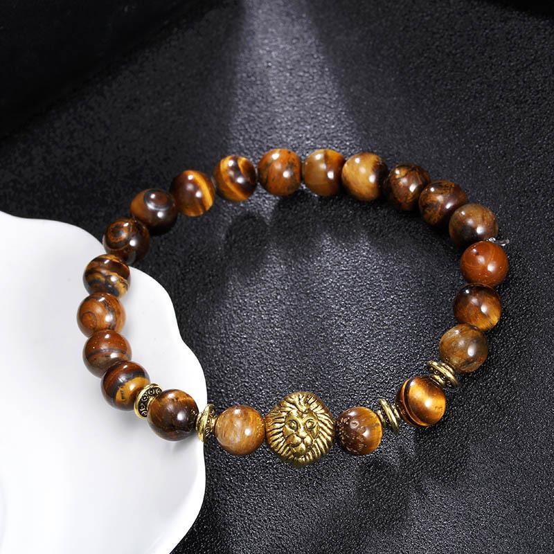 Глаз тигр ювелирных изделий мода браслет оптом 8 мм натуральный с буддой шарм каменные бусы мужские браслеты браслеты леопар леопар