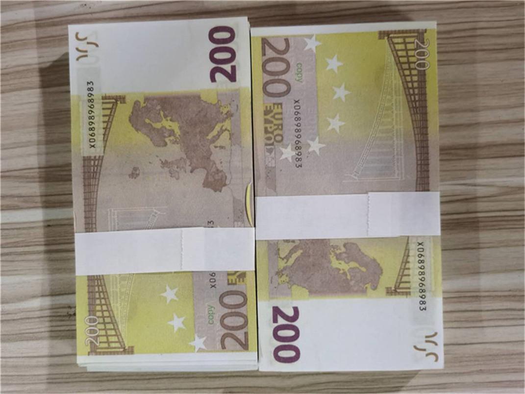 2020 Vente chaude transfrontalière Magie accessoires Ambiance accessoires amis Gathering Family Dîner Simulation Monnaie 200 EUR A3