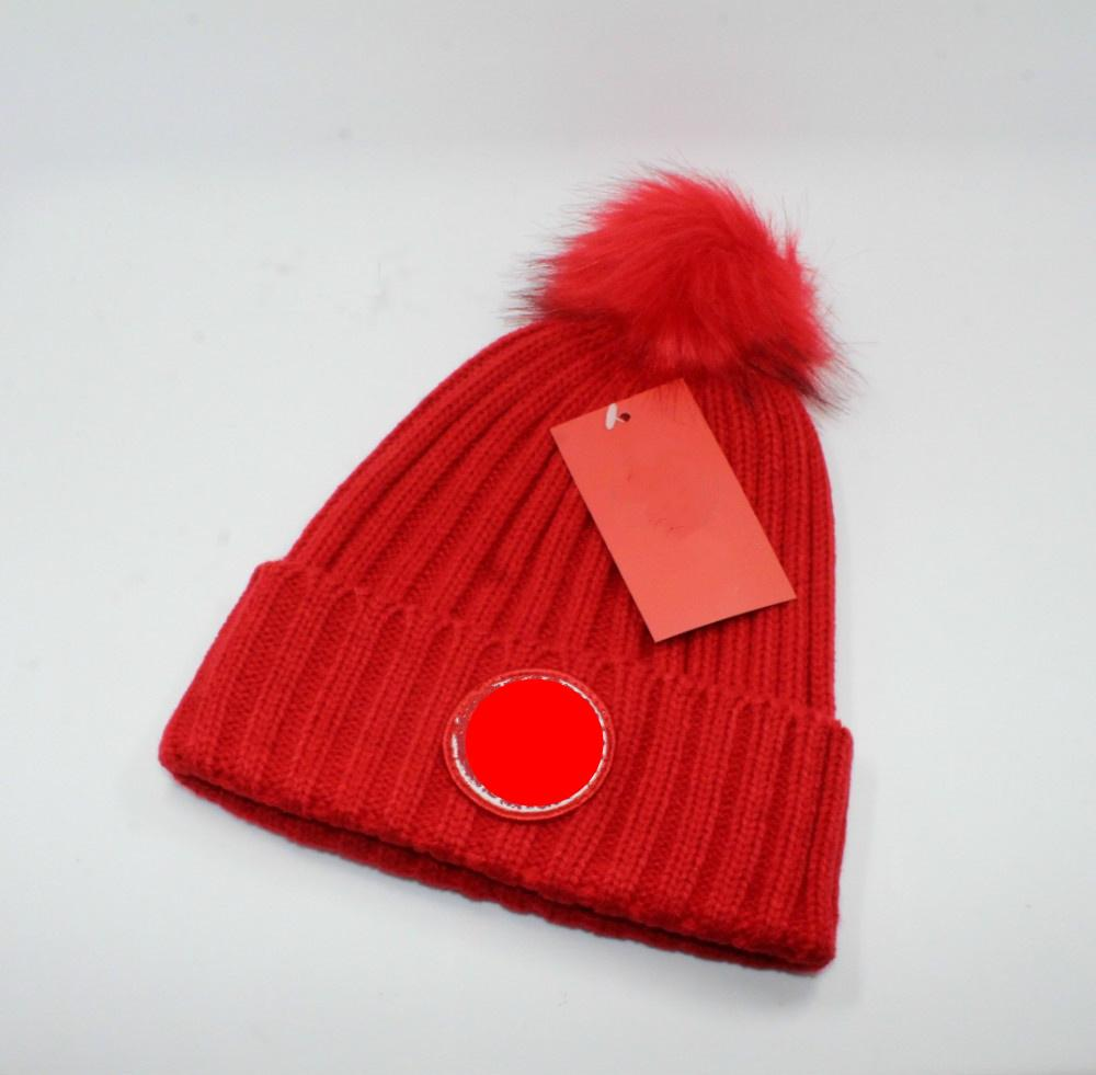 New Ladies Plus Ball Knitted Designers Hat Winter Warm Woolen Women Men Hats Wool Ball Knitted Beanie
