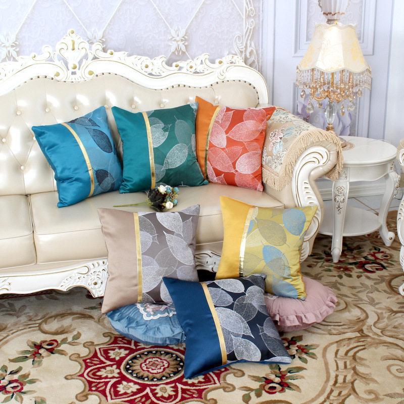 İpek Lüks Yastık Kapak Dekoratif Kanepe Yastıkları Tek Yan Emboridery Patchwork Yastık Koka 45x45 Yastık Ev Dekor