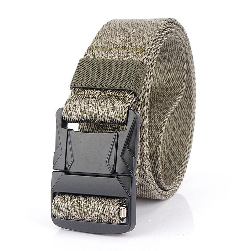 La moda masculina táctico de la correa de nylon de la cintura cinturón de metal resistente ajustable de la hebilla del Ejército Militar correas de los hombres al aire libre de la correa 78 Quick Release Jeans